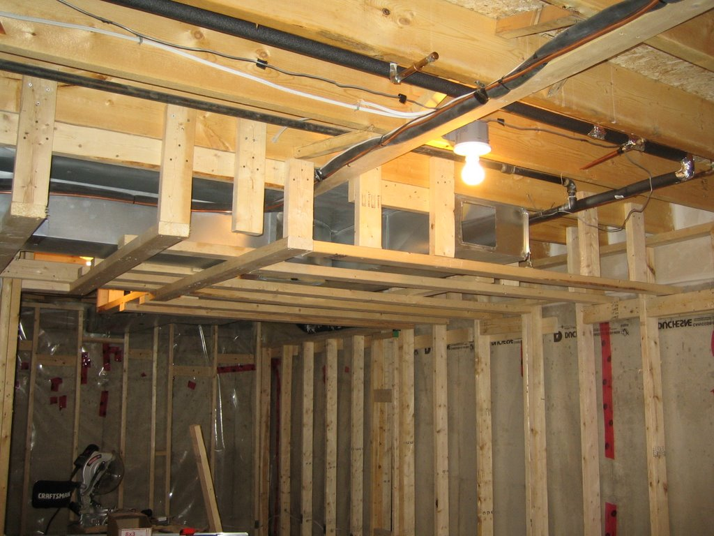 Framing a basement modern home interiors for Framing interior basement walls